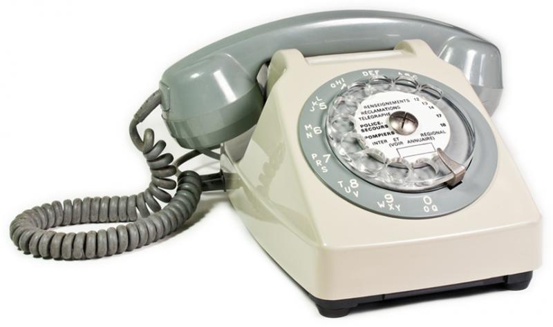 …du téléphone à cadran.